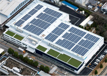 Solar power generation system at the new materials handling plant