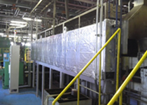 Addition of insulating jackets to heat-treatment furnace