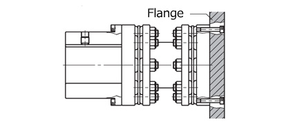 Flange mounting type fig.