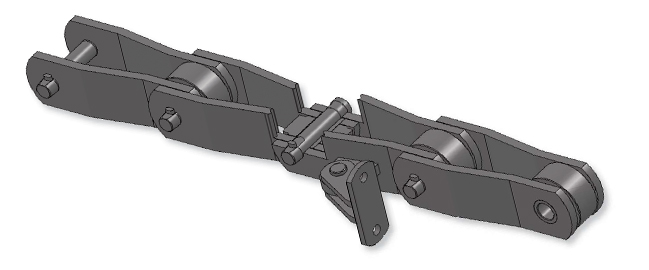 INTERMEDIATE AND BAGASSE CARRIER CHAIN pic.